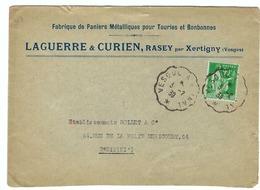 FRANCE 1939: Lettre De Xertigny (Vosges) Pour Paris,  Du 3-2-39 Avec Le Y&T 90c - France