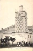 Cp Ain Temouchent Algerien, Le Mineret De La Mosquee, Einheimische, Moschee - Alger