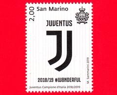 Nuovo - MNH - SAN MARINO - 2019 - Calcio - Juventus Campione D'Italia 2018-2019 - Logo - 2.00 - San Marino