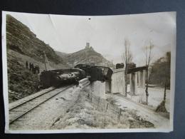 PHOTO De La CATASTROPHE FERROVIERE De PONTAIX  ( DROME )    Train - Locomotive  DIE - CREST - CHATILLON En DIOIS - Trains