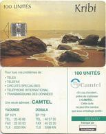 Cameroon Cameroun 100 UT CAM-40 CAMTEL Kribi Beach Schlumberger Phonecard - Camerún