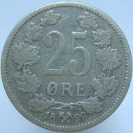 LaZooRo: Norway 25 Ore 1899 VF - Silver - Norvège
