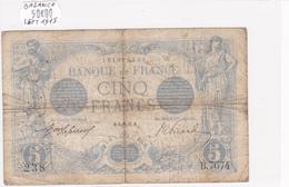 Billet De 5 Francs Bleu Du 08/09/1915 Balance - B.7674 Alph 238 @ N° Fayette : 2.31 - 1871-1952 Circulated During XXth