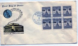 FILIPINAS 1959 FDC MANILA RIZAL MONUMENT - NTVG. - Filipinas