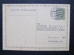 GANZSACHE Bahnpost Zugstempel Ledecko - Svetla Nad Sazavou 1934 Ledeč //// D*42076 - Tschechoslowakei/CSSR