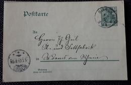 DR 1904, Postkarte BIRKENAU Gelaufen WORMS - Germany