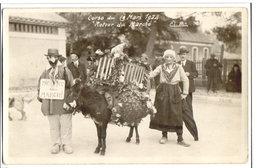 """DIGNE - CARTE PHOTO - CORSO DU 19 MARS 1922  """"RETOUR DE MARCHE"""" - - Digne"""