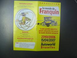 Dépliant - Exposition Le Monde De Franquin - GASTON LAGAFFE - Oggetti Pubblicitari