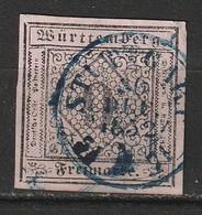 Wurtemberg N° 4 Belles Marges Oblitération Stuttgart 30/12/1852 - Wuerttemberg