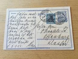 SCHW665 Deutsches Reich Ganzsache Stationery Entier Postal P 146I Von Singen Nach Offenburg - Germania