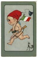 Ref 1333 - 1917 Italy Patriotic Postcard By Pippo - Posta Militare. Censored 10c Rate To London - Zonder Classificatie