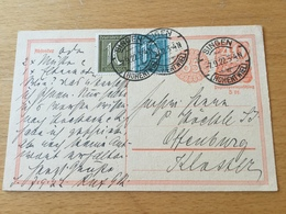 SCHW665 Deutsches Reich Ganzsache Stationery Entier Postal P 153I Von Singen Nach Offenburg - Germania