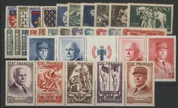1943 ANNEE COMPLETE ** (MNH). Cote 212 €. 31 Timbres N° 568 à 598. TB. - 1940-1949