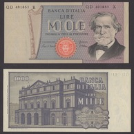 ITALIA 1969 LIRE 1000 VERDI - [ 2] 1946-… : République