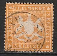Wurtemberg N° 17B Papier épais - Wuerttemberg