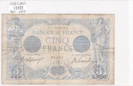 Billet De 5 Francs Bleu Du 24/12/1915 Capricorne - K.9493 Alph 688 @ N° Fayette : 2.34 - 1871-1952 Circulated During XXth