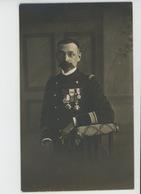 MILITARIA - REGIMENTS - Belle Carte Photo Militaire Officier Avec Médailles Photographié Par AMERICAN PHOTO à TOULON - Régiments