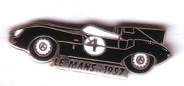 L95 Pin's LE MANS 57 Vainqueur FLOCKHART BUEB Sur JAGUAR D Qualité EGF Signé EMC Achat Immédiat - Jaguar