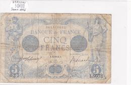 Billet De 5 Francs Bleu Du 24/01/1916 Verseau - L.9973 Alph 027 @ N° Fayette : 2.35 - 1871-1952 Circulated During XXth
