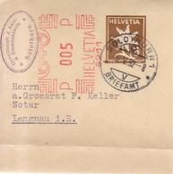 Suiza  Año 1923-1952 6  Frontales  Enteros Postales  Fajas Periodicos   Matasellos Varios - Ganzsachen