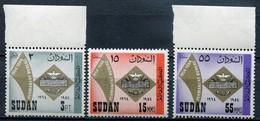 Sudan Mi# 206-8 Postfrisch MNH - Postal Service - Sudan (1954-...)