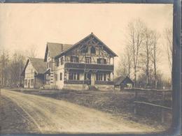J37 - Photo Originale - ALSACE 1915 - 1916 - La Maison Forestière Derrière Laquelle Se Trouvait Notre Central Téléphoniq - War, Military
