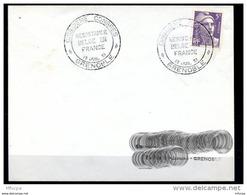 Lil3C43 Grenoble Cachet Comm GF Cinquième Congrès Résistance Belge En France 13 Juillet 1951 - Marcophilie (Lettres)