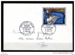 Lil3C89 Paris YvT 1364 FDC Madame Manet Au Canapé Bleu E. Manet 9 Nov 1962 - 1960-1969