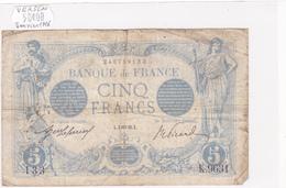 Billet De 5 Francs Bleu Du 4/01/1916 Verseau - K.9631 Alph 133 @ N° Fayette : 2.35 - 1871-1952 Circulated During XXth