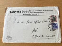 SCHW665 Deutsches Reich 1915 Brief Der Caritas Freiburg An Die Katholische Mission In Genf - Lettres & Documents