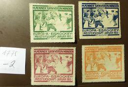 Werbemarke Cinderella Poster Stamp Eishockey  Meisterschaft München 1913  #1775-2 - Vignetten (Erinnophilie)