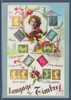 = Type MonTimbraMoi International 20g Entier Carte Postale Langage Des Timbres - Postal Stamped Stationery