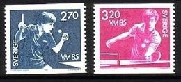 SCHWEDEN MI-NR. 1326-1327 POSTFRISCH(MINT) TISCHTENNIS WM 1985 GÖTEBORG - Tischtennis