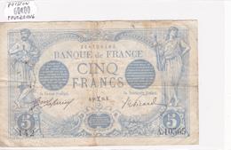Billet De 5 Francs Bleu Du 28/02/1916 Poisson - A.10565 Alph 142 @ N° Fayette : 2.36 - 1871-1952 Circulated During XXth