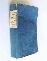 Bulletin Des Lois De La République An X, 3ème Série, Tome 6, Epinal, Haener - Derecho