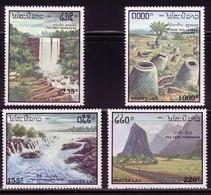 LAOS MI-NR. 1257-1260 POSTFRISCH(MINT) TOURISMUS - WASSERFALL, BERGE - Laos