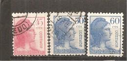 España/Spain-(usado) - Edifil  752-54 - Yvert 619-21 (o) - 1931-50 Used