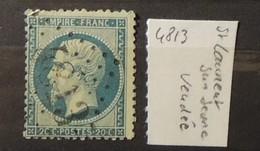 02 - 20 // France N° 22 Oblitération GC 4813 - St Laurent Sur Sevre - Vendée - 1849-1876: Periodo Classico