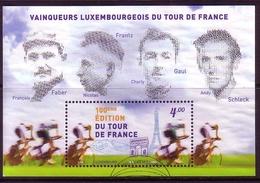 LUXEMBOURG BLOCK 31 GESTEMPELT(USED) 100. TOUR DES FRANCE 2013 - Radsport