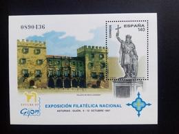 SPANIEN BLOCK 71 POSTFRISCH EXFILNA '97 GIJON DENKMAL PALAST - Blocs & Feuillets