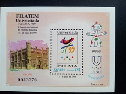SPANIEN BLOCK 75 POSTFRISCH FILATEM UNIVERSIADA '99 PALMA DE MALLORCA - Blocs & Feuillets
