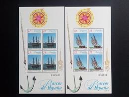 SPANIEN BLOCK 68-69 POSTFRISCH ALTE SEGELSCHIFFE (III) - Blocs & Feuillets