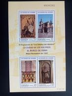 SPANIEN BLOCK 70 POSTFRISCH 1400 JAHRE DIÖZESE VON EL BURGO DE OSMA 1997 - Blocs & Feuillets