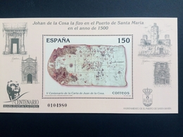 SPANIEN BLOCK 85 POSTFRISCH(MINT) LANDKARTE 2000 KARTOGRAPH JUAN DE LA COSA - Blocs & Feuillets