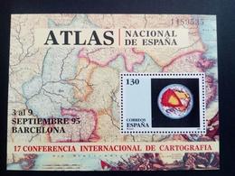 SPANIEN BLOCK 59 POSTFRISCH INT. KONFERENZ DER KATOGRAPHIE 1995 BARCELONA - Blocs & Feuillets