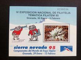 SPANIEN BLOCK 56 POSTFRISCH FILATEM '95 GRANADA SCHNEESTERN - Blocs & Feuillets