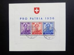 SCHWEIZ BLOCK 2 GESTEMPELT(USED) PRO PATRIA 1936 FREIBURGER SENN - Blocchi & Foglietti