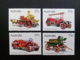 AUSTRALIEN MI-NR. 820-823 POSTFRISCH(MINT) FEUERWEHRFAHRZEUGE 1983 - Firemen