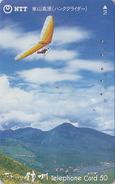 Télécarte Japon / NTT 270-069 - Sport - Parapente - Paragliding Japan Phonecard Telefonkarte - Sport