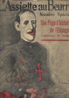 L'assiette Au Beurre Numero Spécial Une Page D'histoire De L'Espagne L'assassinat De Ferrer - Politique